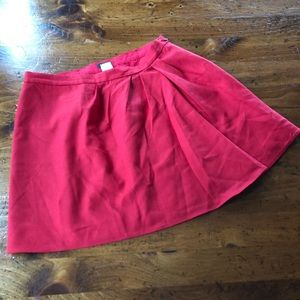 J. Crew Red Skirt size 4